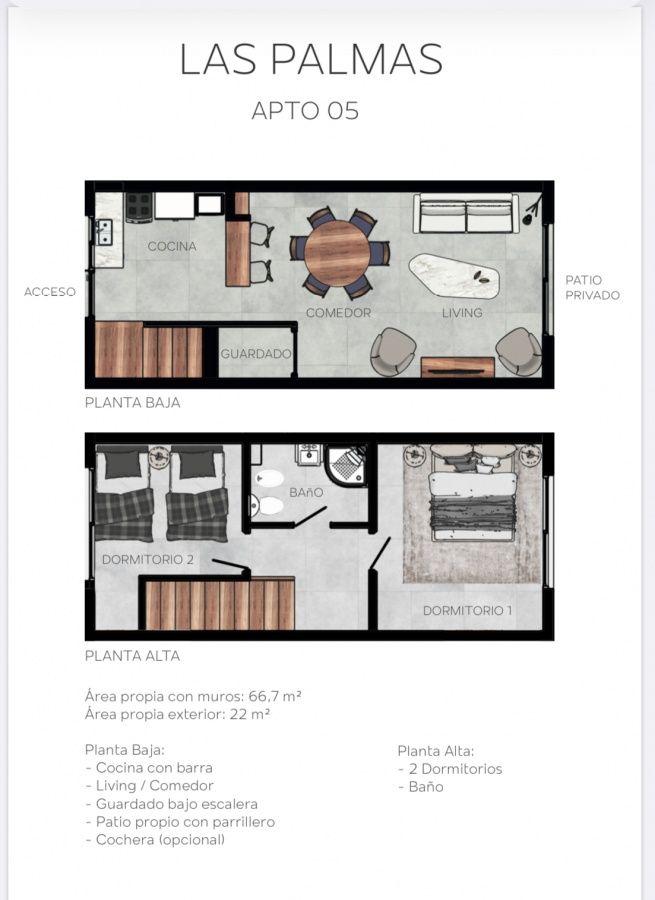 Apartamento ID.271 - Unidad Duplex a extrenar en San Carlos