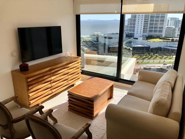 apartamento en punta del este, muy bien equipado en torre full amenities - idg736a