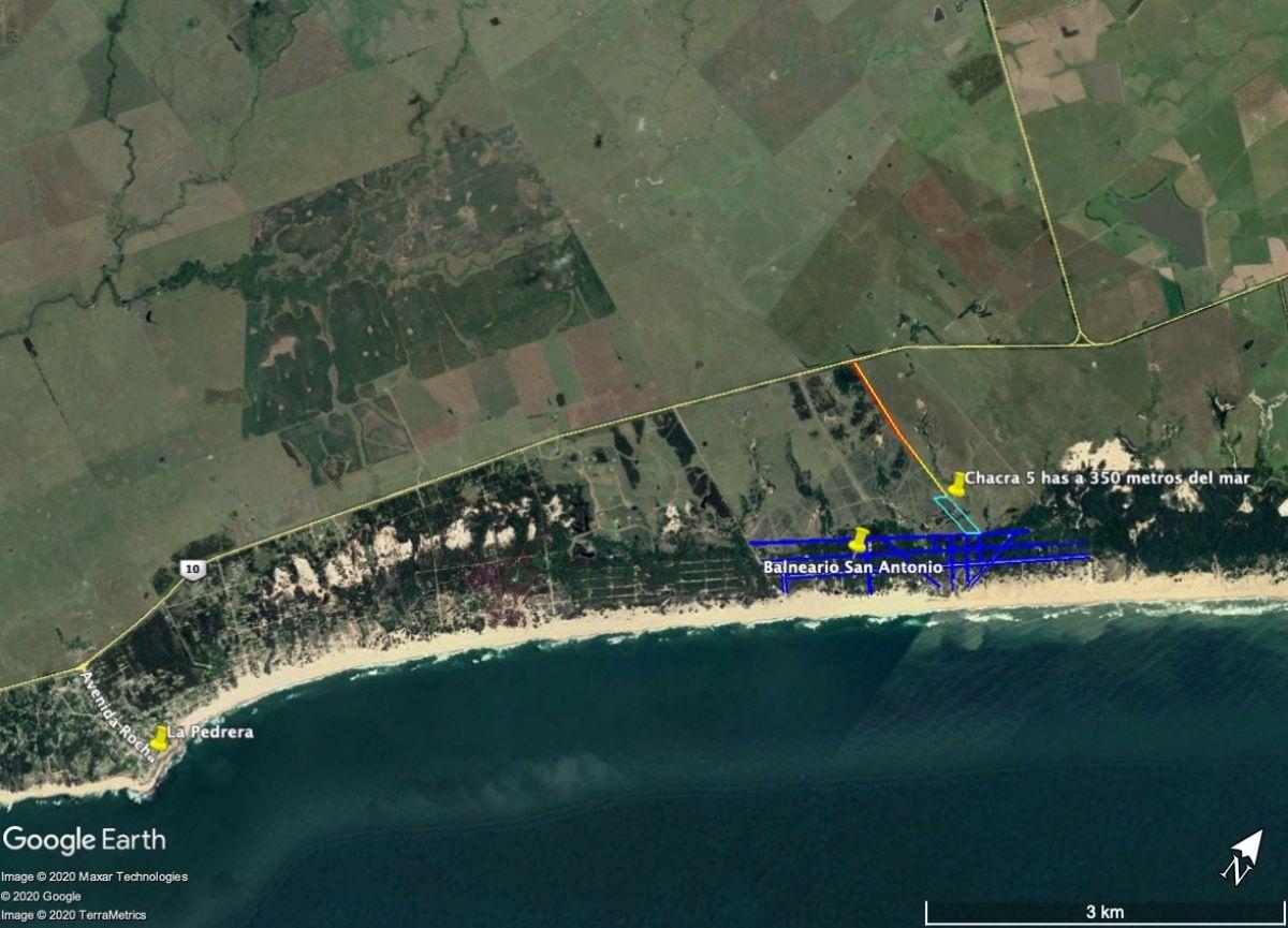 Chacra ID.376 - Chacra 5 has en San Antonio de La Pedrera con vista al mar
