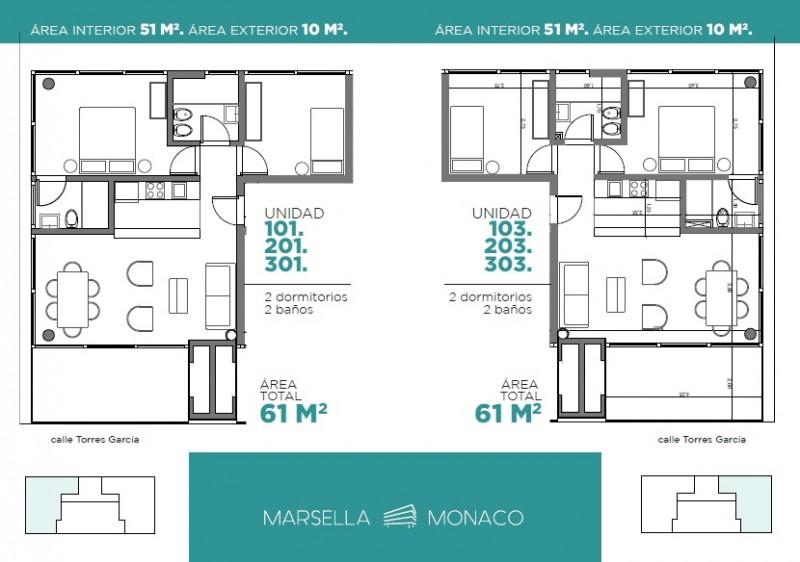Apartamento ID.23926 - Apartamento en venta, 2 dormitorios en Playa Mansa