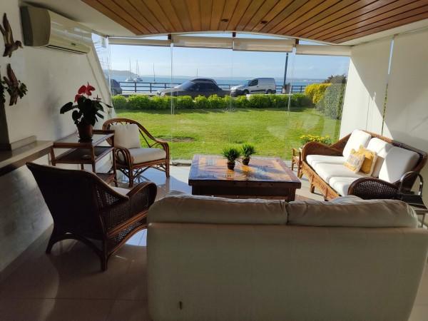 venta apartamento 3 dormitorios en suite, península, frente al puerto, punta del este - blt1463a