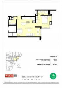 Venta Apartamento 1 Dormitorio, Roosevelt, Punta del Este