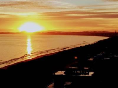 Espectacular vista a playa Mansa