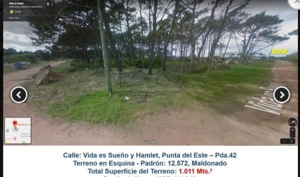 Terreno en Venta en Punta del Este Pinares