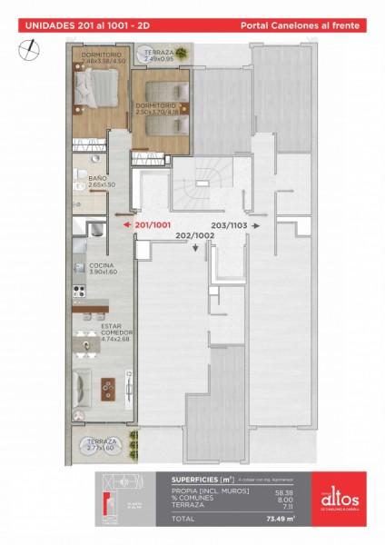Apartamento ID.212260 - INVERSIÓN, VENTA APARTAMENTO DOS DORMITORIOS CORDON SUR