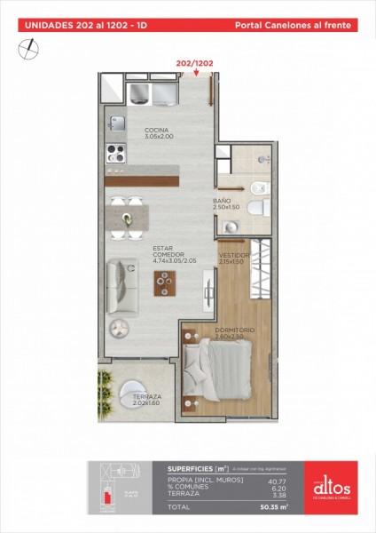 Apartamento ID.212254 - INVERSIÓN, VENTA DE APARTAMENTO UN DORMITORIO EN CORDÓN SUR