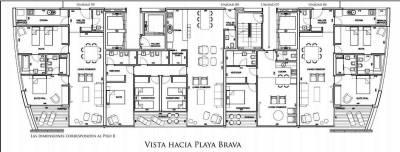 Apartamento de 3 dormitorios en Brava - Punta del Este
