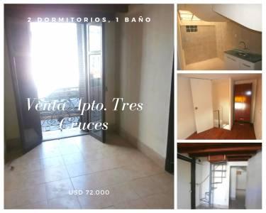 Venta Dúplex 2 dormitorios en Tres Cruces, ideal Inversión !