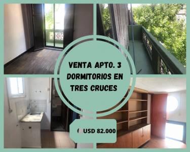 Venta Dúplex 3 dormitorios en Tres Cruces, se vende con RENTA